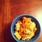 Butternut Squash & Bacon Pasta